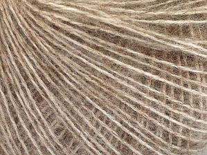 Fiber Content 50% Acrylic, 30% Mohair, 20% Wool, Brand ICE, Beige Melange, Yarn Thickness 2 Fine  Sport, Baby, fnt2-63295