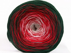 Fiber Content 50% Cotton, 50% Acrylic, White, Red, Brand ICE, Dark Green, Yarn Thickness 2 Fine  Sport, Baby, fnt2-63320