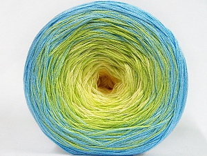 Fiber Content 50% Cotton, 50% Acrylic, Yellow, Light Green, Brand ICE, Baby Blue, Yarn Thickness 2 Fine  Sport, Baby, fnt2-63330