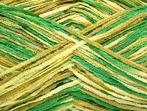 Fiber Content 100% Polyester, Brand ICE, Green Shades, Yarn Thickness 1 SuperFine  Sock, Fingering, Baby, fnt2-63356