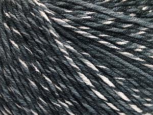Fiber Content 55% Cotton, 45% Acrylic, White, Brand ICE, Grey Shades, fnt2-63408