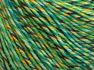 Fiberinnehåll 55% Bomull, 45% Akryl, Yellow, Turquoise, Purple, Brand ICE, Green, Yarn Thickness 3 Light  DK, Light, Worsted, fnt2-63412