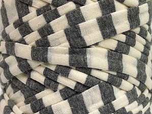 Make handbags,rugs,basket and cushion covers with this genius new-fashion yarn!<p>Since the yarn is made by upcycling fabrics, and because of the nature of the yarn; take the following notes into consideration. </p><ul><li>Fiber content information may vary. Information given about fiber content is approximate. </li><li>The yardage and weight information of the yarn is approximate. </li></ul> Fiber Content 95% Cotton, 5% Elastan, Brand ICE, Grey, Cream, fnt2-63587