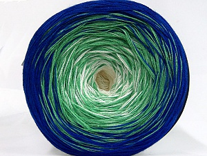 Fiber Content 50% Acrylic, 50% Cotton, Light Green, Brand ICE, Cream, Blue, fnt2-63679