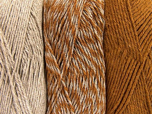 Fiber Content 90% Acrylic, 10% Polyester, Brand ICE, Caramel, Beige, fnt2-64017