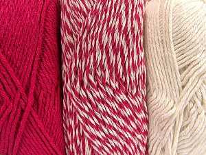 Fiber Content 90% Acrylic, 10% Polyester, Brand ICE, Ecru, Candy Pink, fnt2-64024