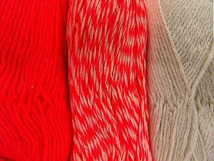 Fiber Content 90% Acrylic, 10% Polyester, Neon Pink, Brand ICE, Ecru, fnt2-64027