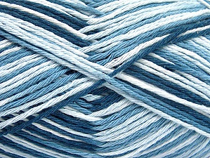 Fiber Content 100% Cotton, White, Brand ICE, Blue Shades, fnt2-64031