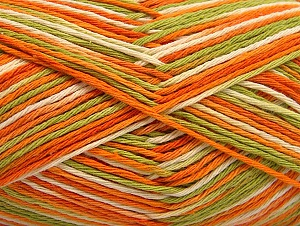 Fiberinnehåll 100% Bomull, Orange, Brand ICE, Green, Cream, fnt2-64037