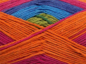 Fiber Content 100% Cotton, Purple, Pink, Orange, Brand ICE, Green, Blue, fnt2-64043