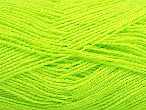Contenido de fibra 100% Acrílico, Neon Yellow, Brand ICE, fnt2-64044