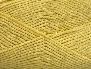 Fiber Content 52% Nylon, 48% Acrylic, Light Yellow, Brand ICE, fnt2-64139