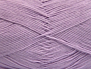 Fiber Content 55% Cotton, 45% Acrylic, Light Lilac, Brand ICE, fnt2-64142