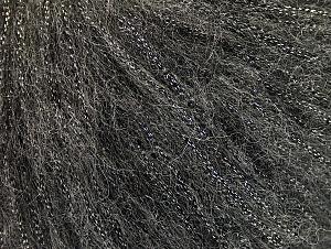 Fiber Content 30% Polyester, 30% Acrylic, 25% Wool, 15% Metallic Lurex, Brand ICE, Dark Grey, fnt2-64174
