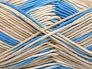 Fiber Content 100% Cotton, Brand ICE, Cream, Blue, Beige, fnt2-64188