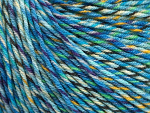 Fiber Content 55% Cotton, 45% Acrylic, Turquoise, Purple, Light Green, Brand ICE, Gold, Yarn Thickness 3 Light  DK, Light, Worsted, fnt2-64201