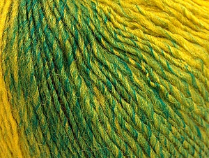 Fiber Content 70% Acrylic, 30% Wool, Brand ICE, Green, Gold, Brown, Yarn Thickness 3 Light  DK, Light, Worsted, fnt2-64212