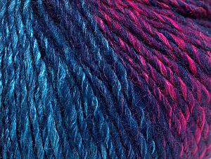 Fiber Content 70% Acrylic, 30% Wool, Turquoise Shades, Navy, Brand ICE, Fuchsia, Yarn Thickness 3 Light  DK, Light, Worsted, fnt2-64220