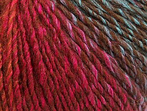 Fiber Content 70% Acrylic, 30% Wool, Brand ICE, Green, Gold, Fuchsia, Brown, Blue, Yarn Thickness 3 Light  DK, Light, Worsted, fnt2-64221