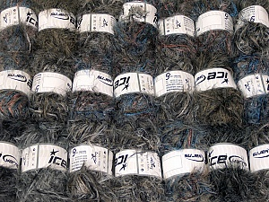 Eyelash Blends This mixed lot includes a total of 2000 gr (70.5 oz.) yarn. There is no standard for ball weight. Also disregard any information on the labels. You will get what you see in the photo. Brand ICE, fnt2-64325
