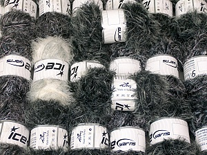 Eyelash Blends This mixed lot includes a total of 2000 gr (70.5 oz.) yarn. There is no standard for ball weight. Also disregard any information on the labels. You will get what you see in the photo. Brand ICE, fnt2-64327