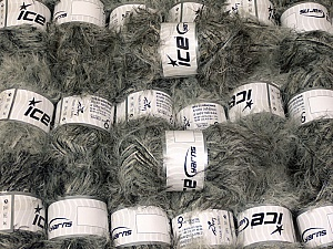 Eyelash Blends This mixed lot includes a total of 2000 gr (70.5 oz.) yarn. There is no standard for ball weight. Also disregard any information on the labels. You will get what you see in the photo. Brand ICE, fnt2-64332