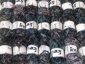 Eyelash Blends This mixed lot includes a total of 2000 gr (70.5 oz.) yarn. There is no standard for ball weight. Also disregard any information on the labels. You will get what you see in the photo. Brand ICE, fnt2-64336