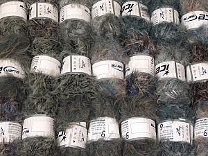Eyelash Blends This mixed lot includes a total of 2000 gr (70.5 oz.) yarn. There is no standard for ball weight. Also disregard any information on the labels. You will get what you see in the photo. Brand ICE, fnt2-64339