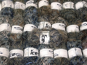Eyelash Blends This mixed lot includes a total of 2000 gr (70.5 oz.) yarn. There is no standard for ball weight. Also disregard any information on the labels. You will get what you see in the photo. Brand ICE, fnt2-64340