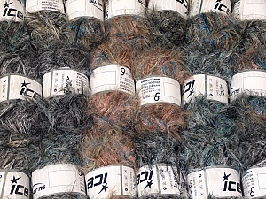 Eyelash Blends This mixed lot includes a total of 2000 gr (70.5 oz.) yarn. There is no standard for ball weight. Also disregard any information on the labels. You will get what you see in the photo. Brand ICE, fnt2-64344