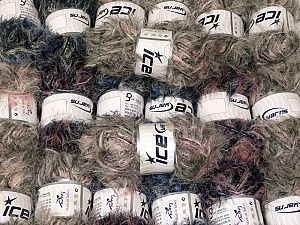 Eyelash Blends This mixed lot includes a total of 2000 gr (70.5 oz.) yarn. There is no standard for ball weight. Also disregard any information on the labels. You will get what you see in the photo. Brand ICE, fnt2-64349