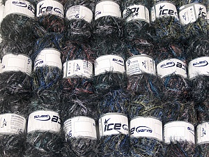 Eyelash Blends This mixed lot includes a total of 2000 gr (70.5 oz.) yarn. There is no standard for ball weight. Also disregard any information on the labels. You will get what you see in the photo. Brand ICE, fnt2-64365