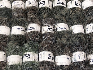 Eyelash Blends This mixed lot includes a total of 2000 gr (70.5 oz.) yarn. There is no standard for ball weight. Also disregard any information on the labels. You will get what you see in the photo. Brand ICE, fnt2-64373