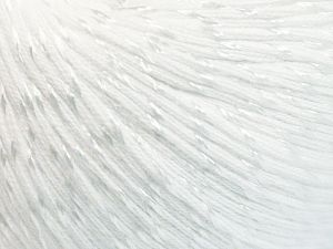 Fiber Content 70% Mercerised Cotton, 30% Viscose, White, Brand Ice Yarns, fnt2-65982