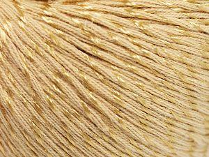 Fiber Content 70% Mercerised Cotton, 30% Viscose, Brand Ice Yarns, Dark Cream, fnt2-65987