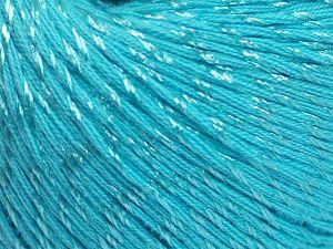 Fiber Content 70% Mercerised Cotton, 30% Viscose, Turquoise, Brand Ice Yarns, fnt2-65996