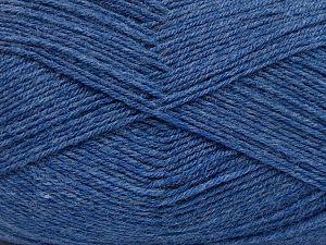 Fiber Content 60% Merino Wool, 40% Acrylic, Jeans Blue, Brand Ice Yarns, fnt2-66048