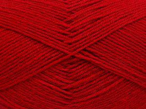 Fiber Content 60% Merino Wool, 40% Acrylic, Red, Brand Ice Yarns, fnt2-66049