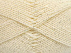 Fiber Content 94% Acrylic, 6% Metallic Lurex, Brand Ice Yarns, Cream, fnt2-66061