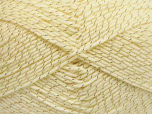 Fiber Content 94% Acrylic, 6% Metallic Lurex, Brand Ice Yarns, Dark Cream, fnt2-66062
