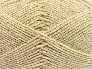 Fiber Content 94% Acrylic, 6% Metallic Lurex, Light Beige, Brand Ice Yarns, fnt2-66063
