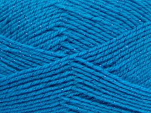 Fiber Content 94% Acrylic, 6% Metallic Lurex, Turquoise, Brand Ice Yarns, fnt2-66067