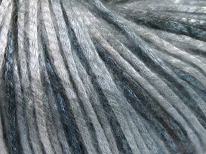 Tencel (Lyocell) is a form of rayon that consists of cellulose fiber made from beech and eucalyptus trees. Main characteristics of lyocell fibers are that they are sustainable, soft, absorbent, very strong when wet or dry, and resistant to wrinkles. Fiber Content 67% Tencel, 33% Polyamide, Light Blue, Brand Ice Yarns, Grey Shades, fnt2-66205