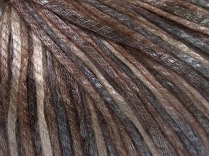 Tencel (Lyocell) is a form of rayon that consists of cellulose fiber made from beech and eucalyptus trees. Main characteristics of lyocell fibers are that they are sustainable, soft, absorbent, very strong when wet or dry, and resistant to wrinkles. Fiber Content 67% Tencel, 33% Polyamide, Light Grey, Brand Ice Yarns, Brown Shades, fnt2-66206