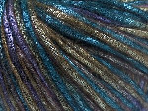 Tencel (Lyocell) is a form of rayon that consists of cellulose fiber made from beech and eucalyptus trees. Main characteristics of lyocell fibers are that they are sustainable, soft, absorbent, very strong when wet or dry, and resistant to wrinkles. Fiber Content 67% Tencel, 33% Polyamide, Turquoise, Purple, Khaki, Brand Ice Yarns, fnt2-66209