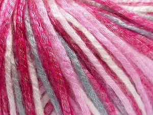 Tencel (Lyocell) is a form of rayon that consists of cellulose fiber made from beech and eucalyptus trees. Main characteristics of lyocell fibers are that they are sustainable, soft, absorbent, very strong when wet or dry, and resistant to wrinkles. Fiber Content 67% Tencel, 33% Polyamide, White, Pink Shades, Light Grey, Brand Ice Yarns, fnt2-66212