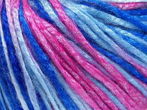 Tencel (Lyocell) is a form of rayon that consists of cellulose fiber made from beech and eucalyptus trees. Main characteristics of lyocell fibers are that they are sustainable, soft, absorbent, very strong when wet or dry, and resistant to wrinkles. Fiber Content 67% Tencel, 33% Polyamide, Pink Shades, Brand Ice Yarns, Blue Shades, fnt2-66215