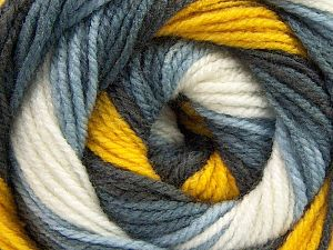 Fiber Content 100% Acrylic, Yellow, White, Brand Ice Yarns, Grey Shades, fnt2-66545