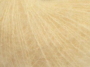 Fiber Content 47% SuperKid Mohair, 31% Superwash Extrafine Merino Wool, 22% Polyamide, Brand Ice Yarns, Dark Cream, fnt2-69135