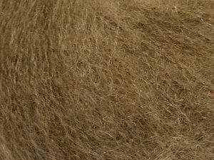 Fiber Content 47% SuperKid Mohair, 31% Superwash Extrafine Merino Wool, 22% Polyamide, Brand Ice Yarns, Dark Camel, fnt2-69139